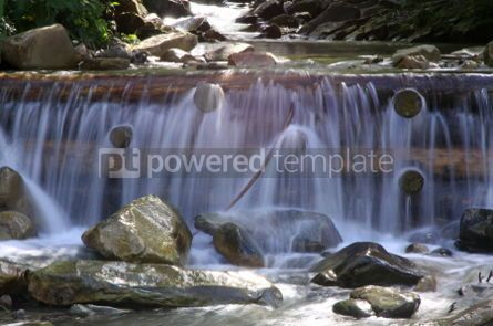 Nature: Beautiful cascade in Carpathian forest Ukraine. Long exposure #04442