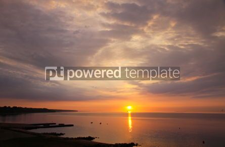 Nature: Sunrise over Kattegat strait in Fredericia city Denmark #04445