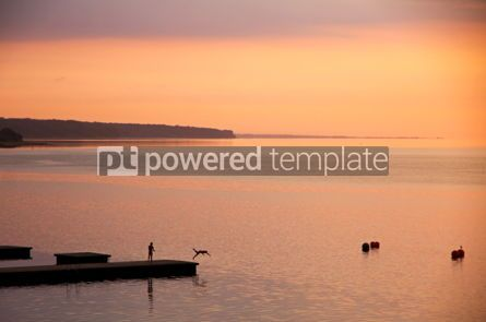 Nature: Sunrise over Kattegat strait in Fredericia city Denmark #04446