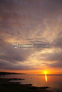 Nature: Sunrise over Kattegat strait in Fredericia city Denmark #04447