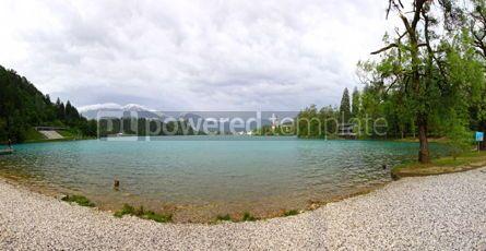 Nature: Panoramic view of Bled Lake Slovenia #04461