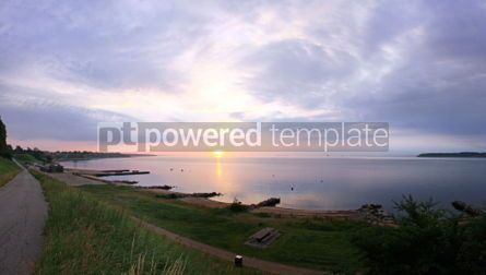 Nature: Sunrise over Kattegat strait in Fredericia city Denmark #04463