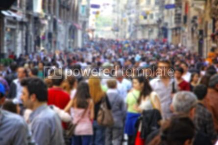 People: Blurred crowd of unrecognizable people at the Istiklal street in #04468