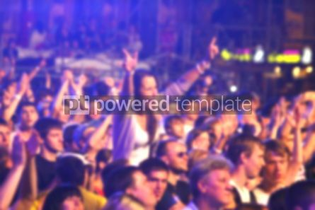 People: Blurred unrecognizable people dance during the concert #04469