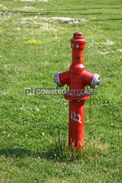 Industrial: Close-up red fire hydrant in a park of Istanbul Turkey #04475