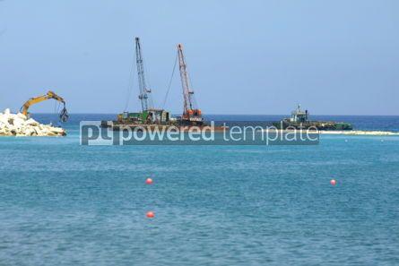 Industrial: Building of breakwater dam on Cyprus seacoast #04477