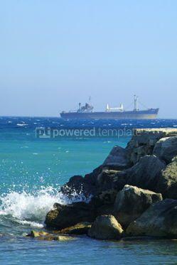 Industrial: Industrial ship in Mediterranean sea #04478