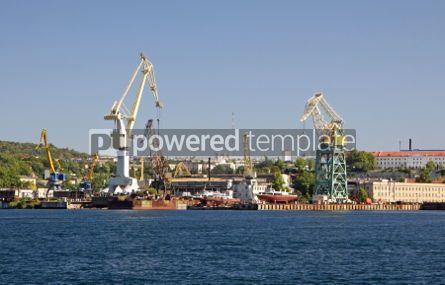 Industrial: Dock crane towers in Sevastopol bay Ukraine #04479