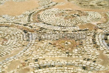 Architecture : The close-up fragment of ancient mosaic in Kourion Cyprus #04483