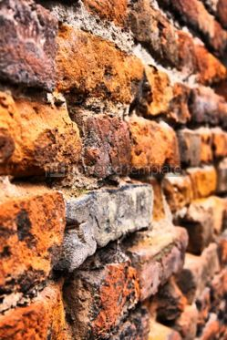 Architecture : Close-up vintage brickwall background in Verona #04485