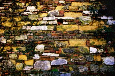 Architecture : Close-up vintage brick wall #04486