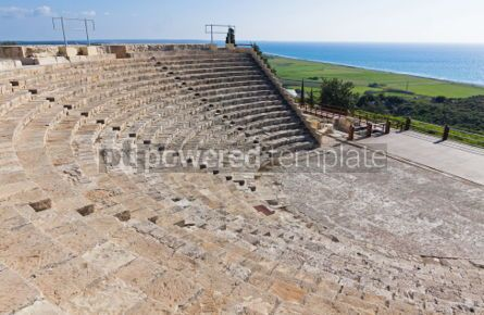 Architecture : Ancient Greco-Roman theatre in Kourion Cyprus #04488