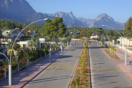 Architecture: Street of City of Kemer Antalya province Turkey #04494