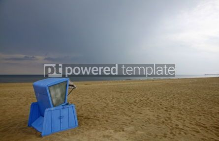 Architecture : Hooded beach chair at the Baltic sea in Swinoujscie Poland #04496