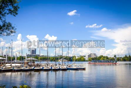 Transportation: Waterfront of the Aussenalster Lake in Hamburg Germany #04500