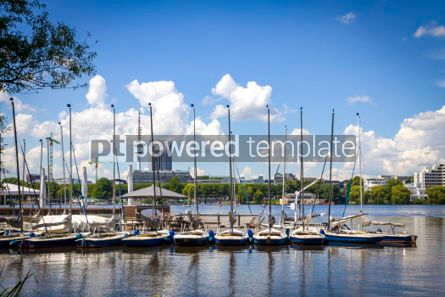 Transportation: Waterfront of the Aussenalster Lake in Hamburg Germany #04501