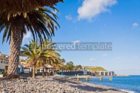 Nature: Beach in Santa Cruz Madeira island Portugal #04513