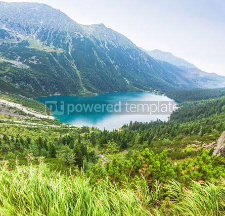 Nature: Panoramic view of Morskie Oko lake Poland #04517
