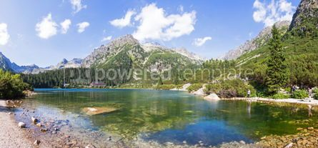 Nature: Panoramic view of Popradske Pleso Tatra mountains Slovakia #04518