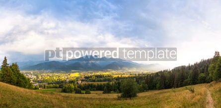 Nature: Panoramic view of Zakopane Western Tatras Poland #04520