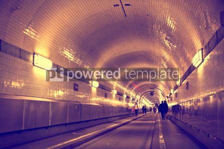 Transportation: Tunnel under the Elbe river in Hamburg Germany #04525