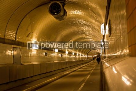 Transportation: Tunnel under the Elbe river in Hamburg Germany #04526