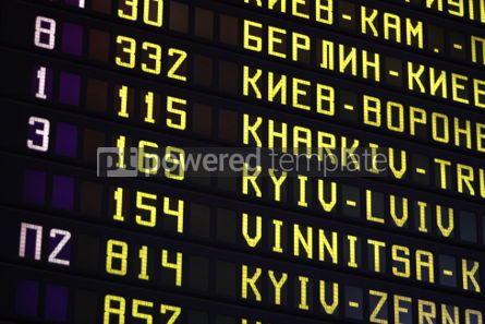 Transportation: Railway station timetable. Kyiv Ukraine #04527