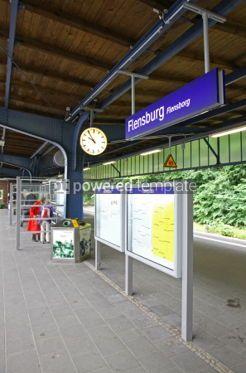 Transportation: Central Railway Station in Flensburg Germany #04528