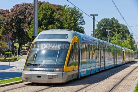 Transportation: Light rail train of Metro do Porto Portugal #04529