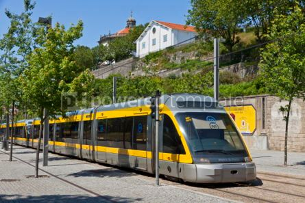 Transportation: Light rail train of Metro do Porto Portugal #04530