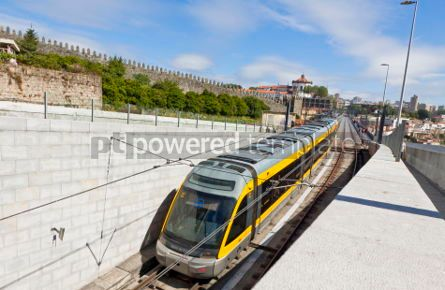Transportation: Light rail train of Metro do Porto Portugal #04532