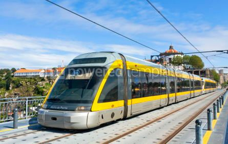 Transportation: Light rail train of Metro do Porto Portugal #04533