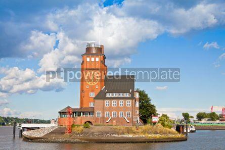 Architecture : Lotsenhaus Seemannshoft (Pilot house) in the port of Hamburg Ge #04539