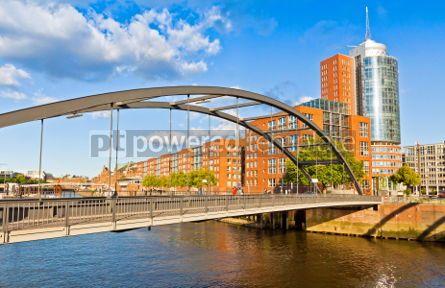 Architecture : Speicherstadt district in Hamburg Germany #04542