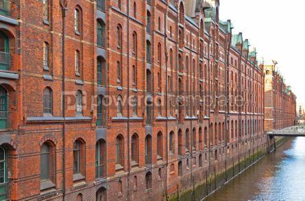Architecture : Speicherstadt district in Hamburg Germany #04545