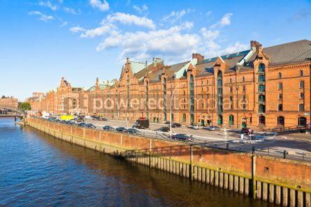 Architecture : Speicherstadt district in Hamburg Germany #04546