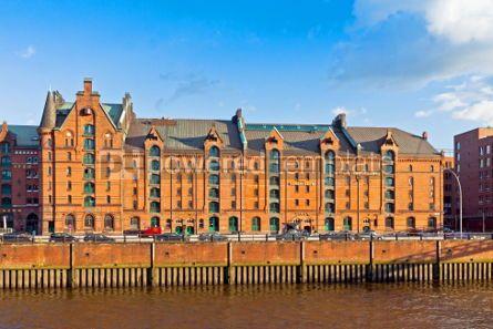 Architecture : Speicherstadt district in Hamburg Germany #04547