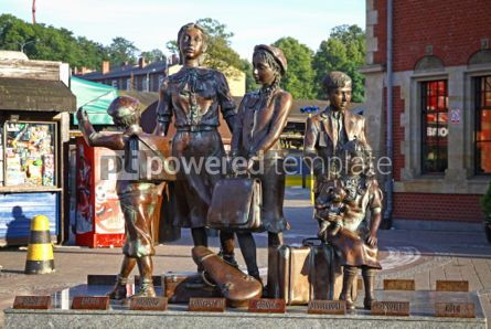 Architecture : Kindertransport Monument near Gdansk Railway station Poland #04549