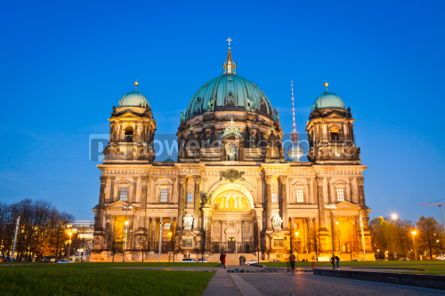 Architecture : Evening view of Berlin Cathedral Germany #04555