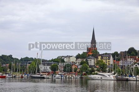 Architecture : Picturesque view Flensburg city Germany #04556