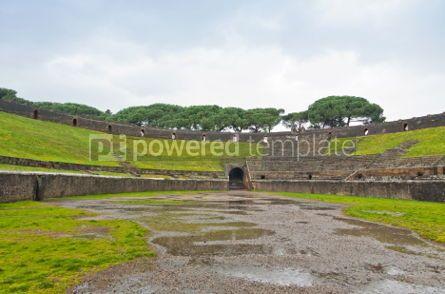 Architecture : Amphitheatre in ancient Roman city of Pompei Italy #04564