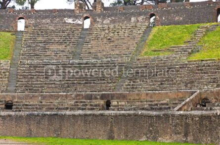 Architecture : Amphitheatre in ancient Roman city of Pompei Italy #04565