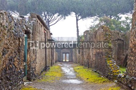 Architecture : Ancient Roman city of Pompei Italy #04566