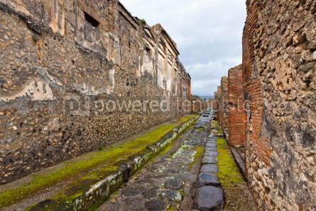 Architecture : Ancient Roman city of Pompei Italy #04567