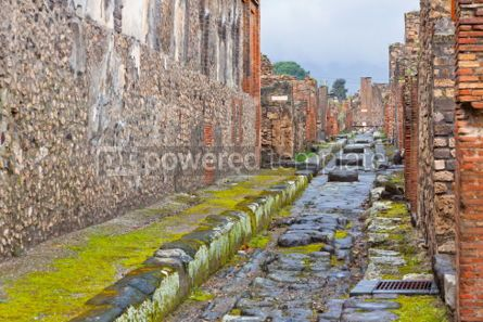 Architecture : Ancient Roman city of Pompei Italy #04568