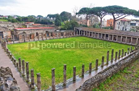 Architecture : Ruins of Ancient Roman city of Pompei Italy #04569
