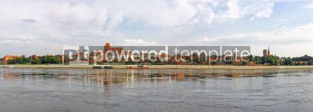 Architecture : Torun old town reflected in Vistula river Poland #04577