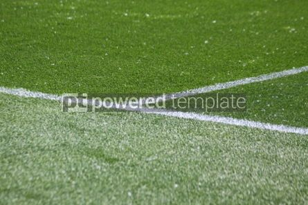 Sports : White stripes on the green soccer field #04583