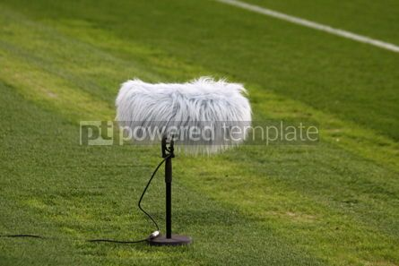Sports: Microphone boom at a football stadium #04589