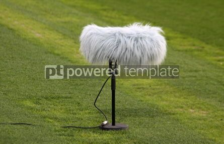 Sports : Close-up microphone boom at a football stadium #04590